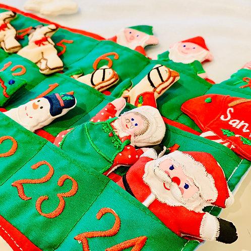 Santa's Workshop Advent Calendar Wall Hanging