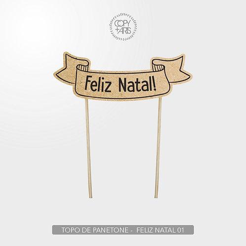 TOPO DE PANETONE - NATAL 2020