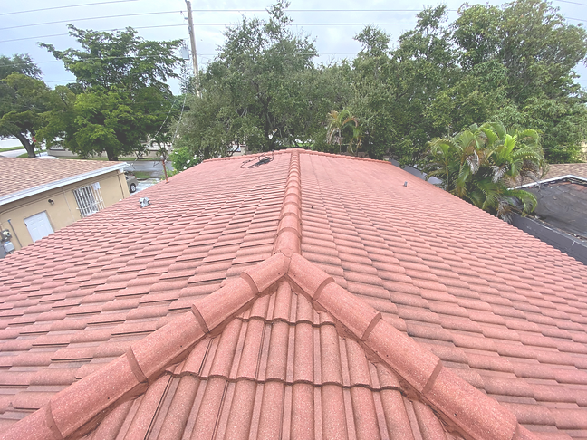 dirty roof after service