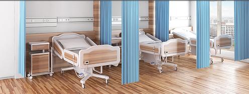 Sistema de cortinas hospitalarias suspendidas proporciona confort y privacidad a los pacientes y al equipo médico