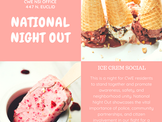 Cool off this National Night Out with the CWE NSI and Ice Cream