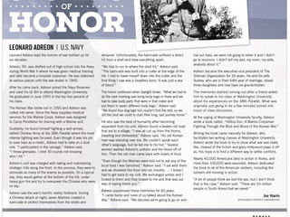 """Leonard Adreon receives recognition as a """"Stories of Honor"""" Hero"""