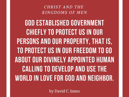 God's goodness in government