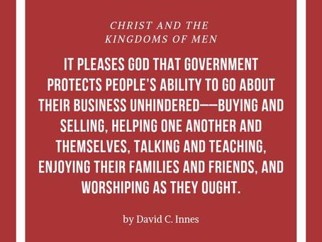 Bedrock of political life: God Sovereign