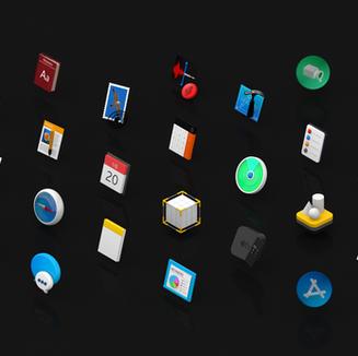 Apple 3D Icon