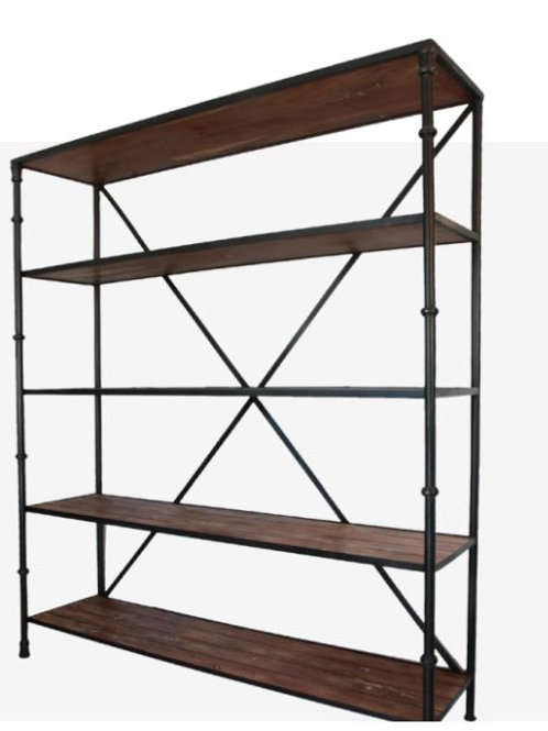 Huston wood & metal bookshelf
