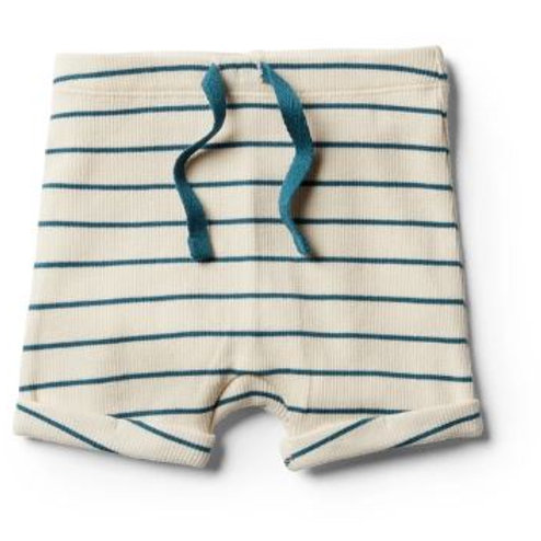 copy of Wilson &FRENCHY  - ORGANIC JUNGLE GREEN STRIPE SHORT- 6-12 mths