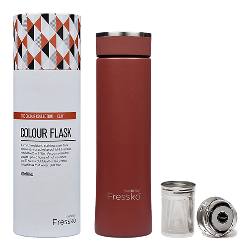 FRESSKO - 500ML INFUSER FLASK- CLAY