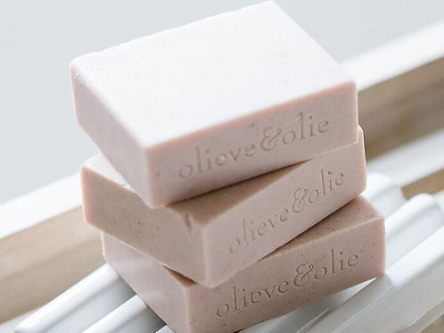 Olieve and ollie Hand Made Bar Soap Laveneder , rose and pink clay