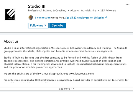 Studio 3 Linked in