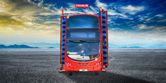 Streamline with background & red bus & n