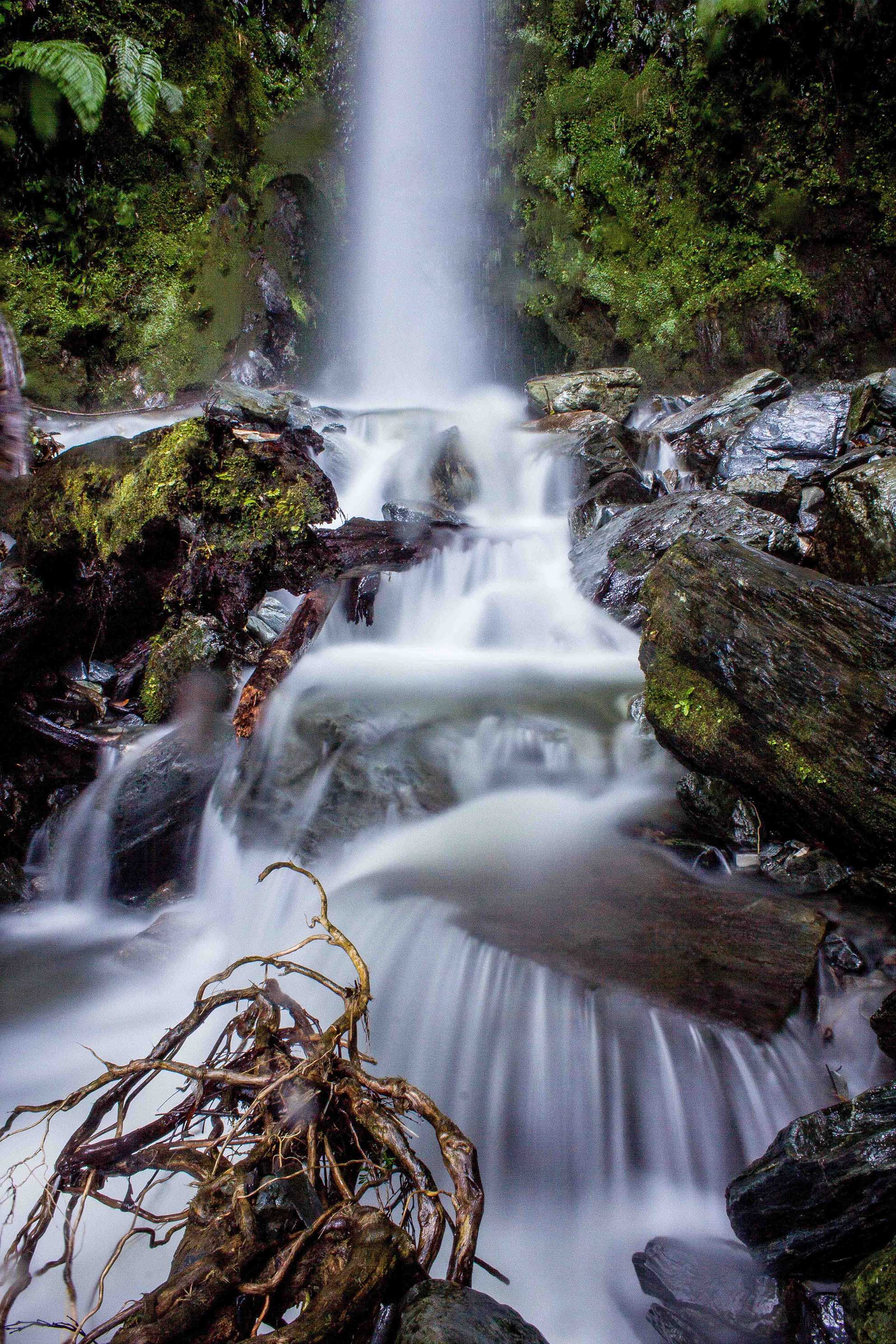 Waterfall at Jackson's Retreat NZ