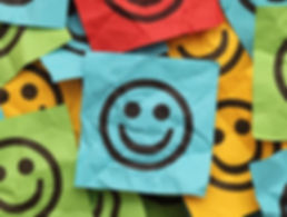 Sticky notes with smiley faces