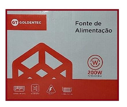 Fonte de Alimentação ATX Goldentec 200W Real com Cabo (GT200R)
