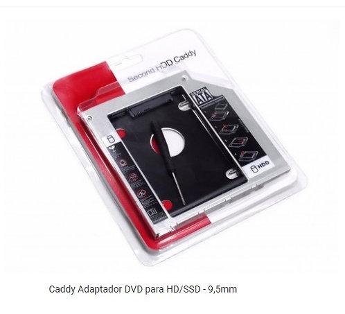 Adaptador Caddy Hd Ssd/dvd Notebook 9mm 9,5mm