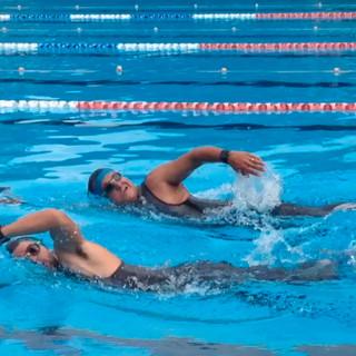 Training at the Petria Thomas Olympic Pool in Mullumbimby, NSW
