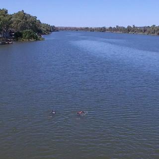 Aerial shot of team outside Swan Reach, South Australia.  Photo by PJ Melders