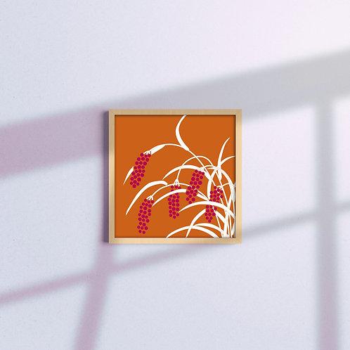 illustrazione floreale arancio