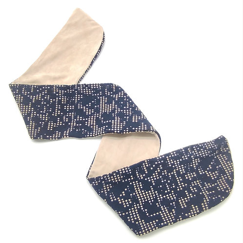 8 sweatband Blue White