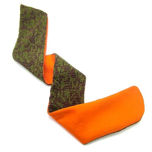 8 sweatband Orange Green