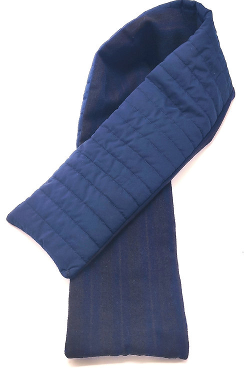 8 sweatband quilted Blue  and wool