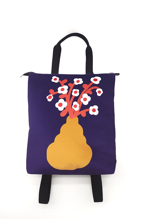 Digital flowers Big backpack