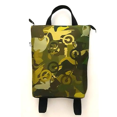 Moto mimetic art Backpack