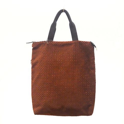 Velvet bordeaux backpack