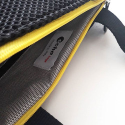 zaino black mesh 3d & lemon zip