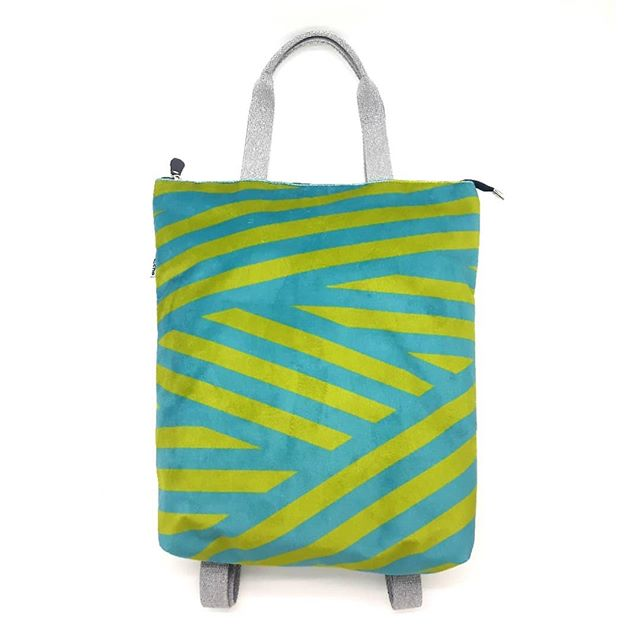 Geometric pattern on backpack • • • • •
