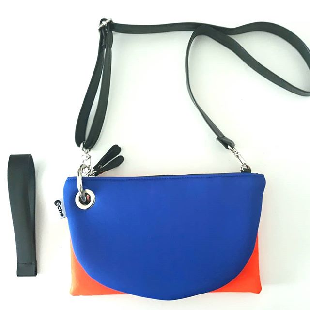 Model small 2 bags neoprene blu + aranci