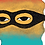 Thumbnail: 'Masked Color Caper' Original Framed Artwork
