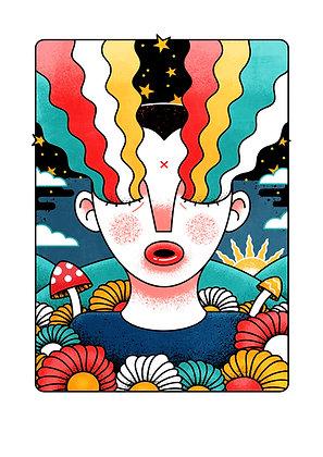 'Cosmic Dreamer' Print