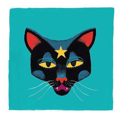 'Pétunia le chat' Print