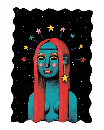 'Lady Stardust' Original Framed Artwork