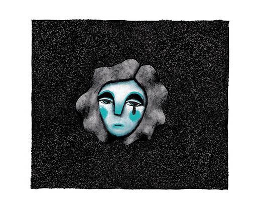 'The Darkness...' Original Framed Artwork