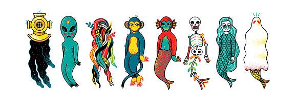 'Aquatic Ape' Print