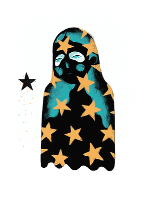 'Blackstar' A3 Print