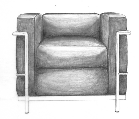 LC2 chair, front