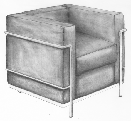 LC2 chair, side