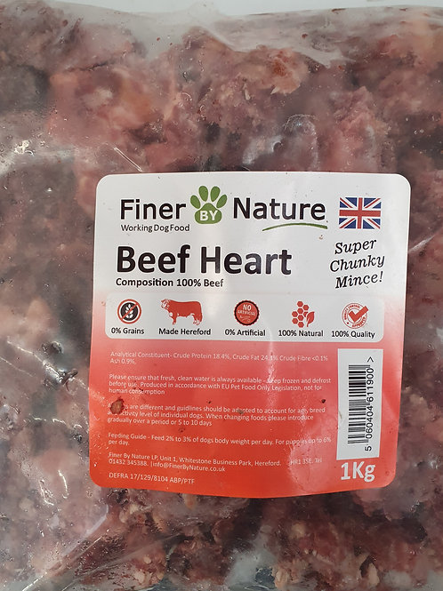 Finer By Nature Boneless Beef Heart  Super Chunky 1kg