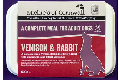 Michies Venison & Rabbit 500g Complete Adult Dinner