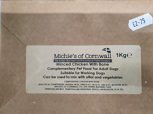 Michies of cornwall Chicken & Rabbit with added Veg & herbs 1kg