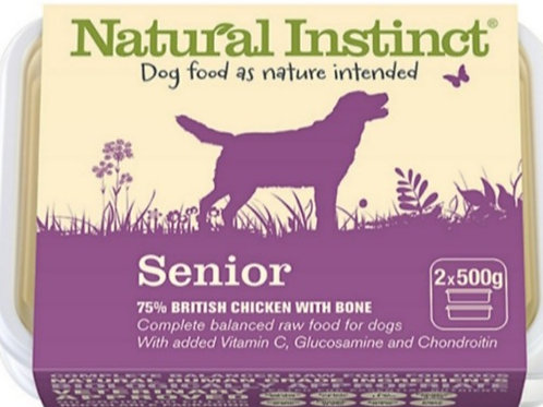 Natural Instinct Senior 2 x 500g Raw Dog Food