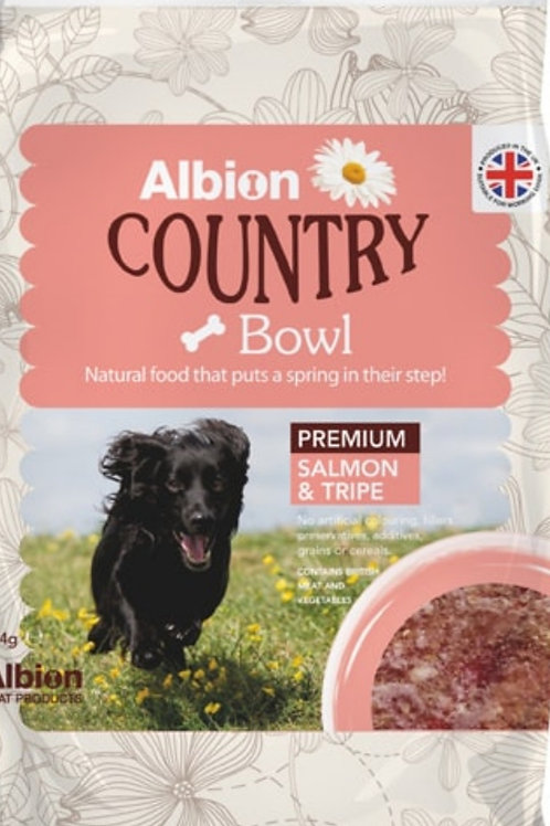 Albion Country Bowl Premium Salmon & Tripe 454g
