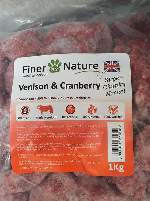 Finer By Nature Venison/Cranberry Super Chunky 1kg