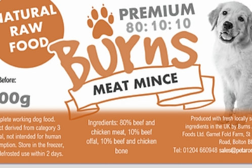 Burns Meaty Beef Mince Complete 400g Roll