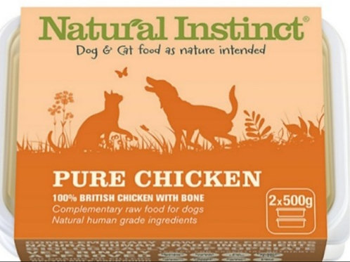 Natural Instinct Pure Range Chicken 2 x 500g Raw Dog /Cat Food