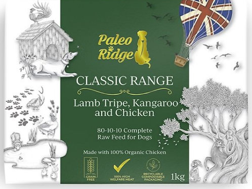Paleo Ridge Kangaroo/Lamb Tripe & Chicken Complete 1kg