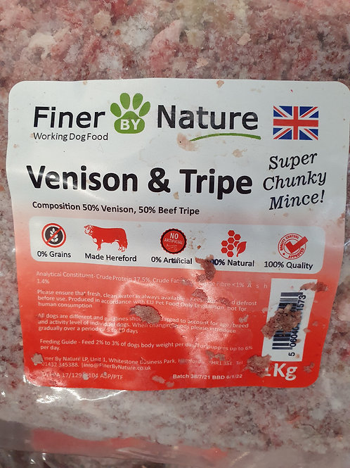 Finer By Nature Venison/Tripe Super Chunky 1kg